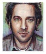Paul Rudd Portrait Fleece Blanket