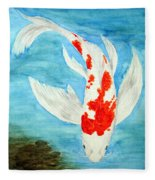 Paul's Koi Fleece Blanket