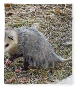 Pawing Possum Fleece Blanket