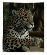 Paws Of A Jaguar Fleece Blanket