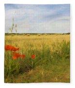 Paysage De Normandie Fleece Blanket