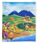 Paysage Du Nord Du Rwanda Fleece Blanket