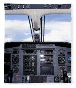 Pc 12 Cockpit Fleece Blanket