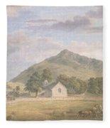 Haymaking At Dolwyddelan Fleece Blanket