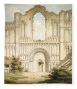 Pd.56-1958 West Front Of Castle Acre Fleece Blanket