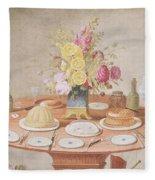 Pd.869-1973 Still Life With A Vase Fleece Blanket