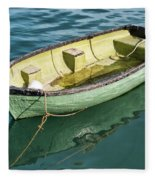 Pea-green Boat Fleece Blanket