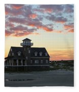 Oregon Inlet Life Saving Station 2693 Fleece Blanket