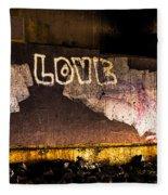 Peace And Love Under The Bridge Fleece Blanket