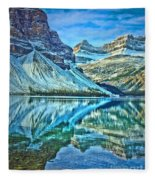Peace At Bow Lake Fleece Blanket