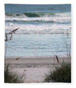 Peace At The Beach Fleece Blanket