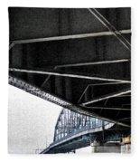 Peace Bridge 00e Fleece Blanket
