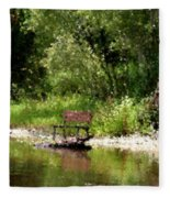 Peace By The River Fleece Blanket