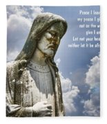 Peace I Leave With You Fleece Blanket