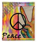 Peace In Every Color Fleece Blanket
