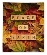 Peace On Earth-autumn Fleece Blanket