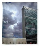 Peace On Earth - United Nations Fleece Blanket