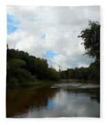 Peace River 3 Fleece Blanket