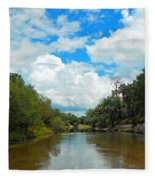 Peace River 4 Fleece Blanket