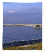 Peace River Bridge Fleece Blanket