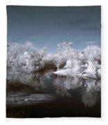 Peace River North Near Infrared Arcadia Florida Usa Fleece Blanket
