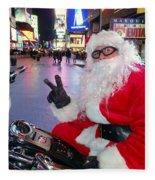 Peace Santa Fleece Blanket