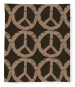 Peace Symbol Collage Fleece Blanket