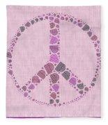 Peace Symbol Design - 42ct2b Fleece Blanket
