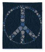 Peace Symbol Design - Bld01t01   Fleece Blanket