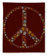 Peace Symbol Design - S05d Fleece Blanket