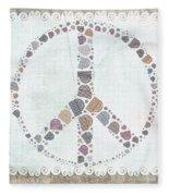 Peace Symbol Design - S76at02 Fleece Blanket