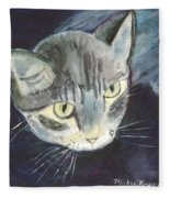 Peace The Cat Fleece Blanket