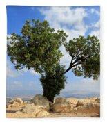 Peace Tree Fleece Blanket