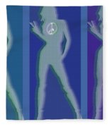 Peace Woman Repeat Fleece Blanket