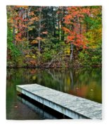 Peaceful Autumn Day Fleece Blanket