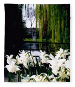 Peaceful Canal Fleece Blanket