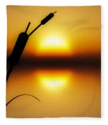 Peaceful Dawn Fleece Blanket
