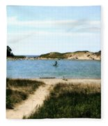 Peaceful Day At North Bar Lake Fleece Blanket