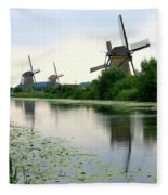 Peaceful Dutch Canal Fleece Blanket