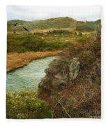 Peaceful Estuary In Carmel Fleece Blanket