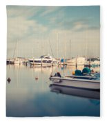 Peaceful Harbour Fleece Blanket