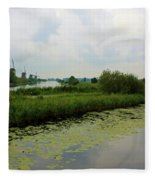 Peaceful Kinderdijk Fleece Blanket