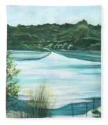 Peaceful Lake Fleece Blanket