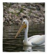 Peaceful Pelican Fleece Blanket