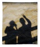 Peaceful People Shadows Fleece Blanket