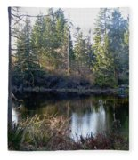 Peaceful Pond Fleece Blanket