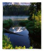 Peaceful Reflection Fleece Blanket