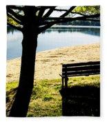 Peaceful Shadows Fleece Blanket