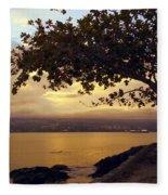 Peaceful Sundown On Hilo Bay - Hawaii Fleece Blanket