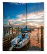 Peaceful Sunset Fleece Blanket